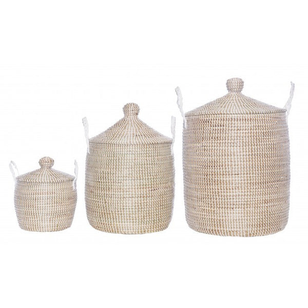 PRELIM Medium Minimalist Lidded Fair Trade Basket - Old New House