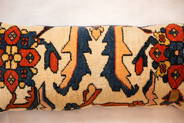 Extra Long Lumbar Rug Fragment Pillow