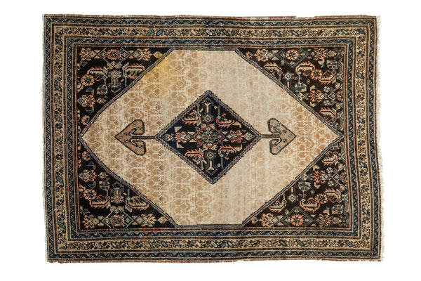 3.5x4.5 Antique Malayer Serab Square Rug