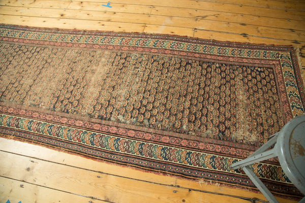 Antique Hand Knotted Caucasian Soumac Rug Runner