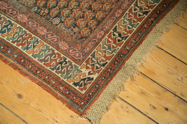 Antique Caucasian Soumac Rug Runner With Original Macarame Fringe