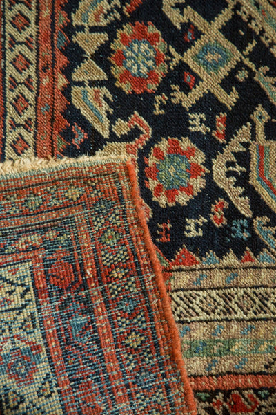 Antique Malayer Rug Runner front and back
