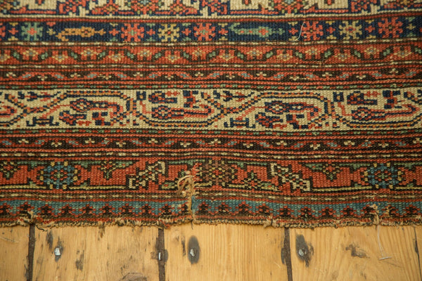Edge of Antique Malayer Rug Runner