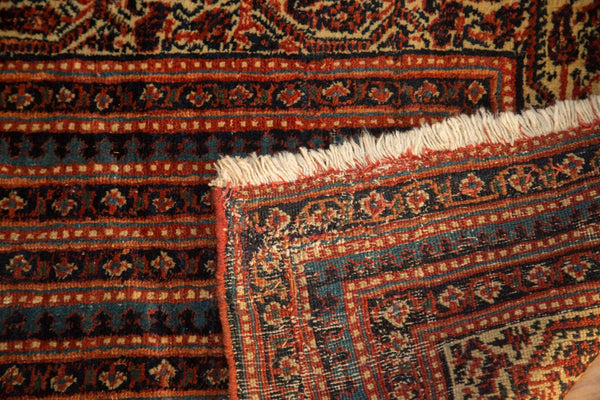 Antique Fine Malayer Fragmented Rug Runner