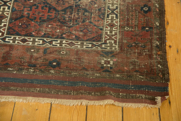 Antique Belouch Rug Runner With Short Fringe