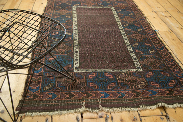 Antique Fine Belouch Rug Circa 1910's Vintage