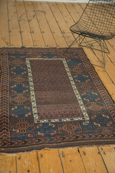 Antique Fine Hand Knotted Belouch Rug