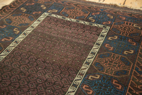 Antique Fine Belouch Rug with Original Goat Cord Selvage