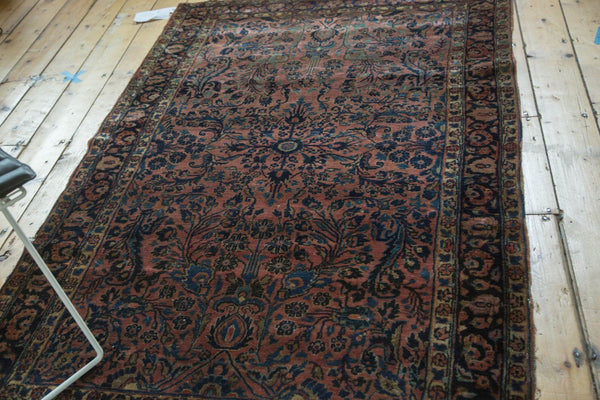 Antique American Sarouk Rug / Item 4126 image 6