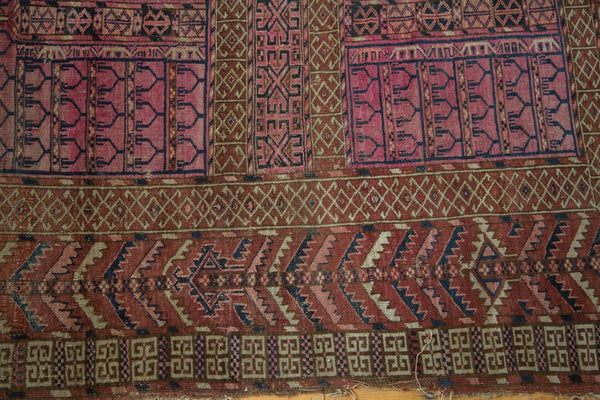 Antique Turkmen Square Rug / Item 4143 image 3