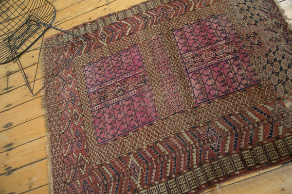 Antique Turkmen Square Rug / Item 4143 image 5