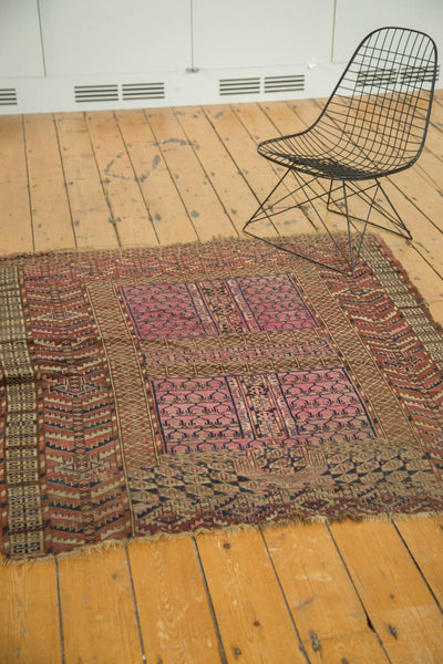 Antique Turkmen Square Rug / Item 4143 image 6