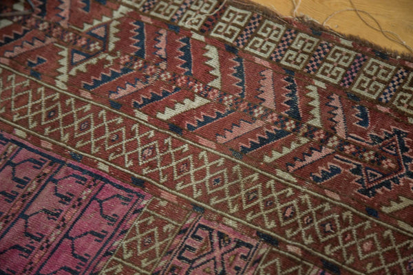 Antique Turkmen Square Rug / Item 4143 image 10