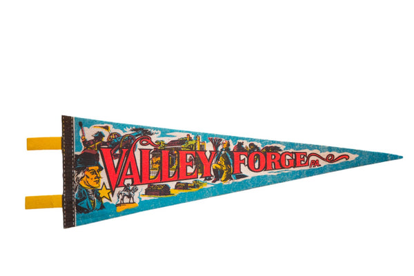 Vintage 1970s Valley Forge Pa Felt Flag Pennant