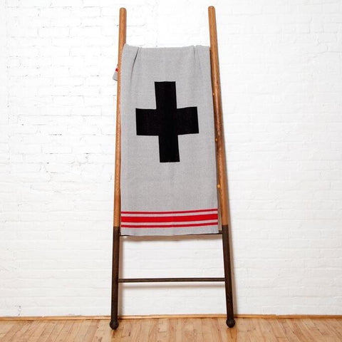 Eco-Friendly Made in USA Blanket Swiss Cross and Stripes