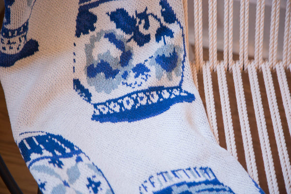 Eco-Friendly Made in USA Blanket Delft Blue