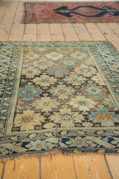 Antique Caucasian Square Rug / Item 4233 image 5