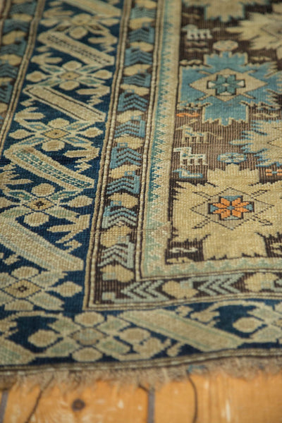 Antique Caucasian Square Rug / Item 4233 image 6
