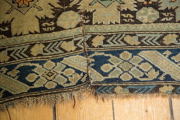 Antique Caucasian Square Rug / Item 4233 image 7