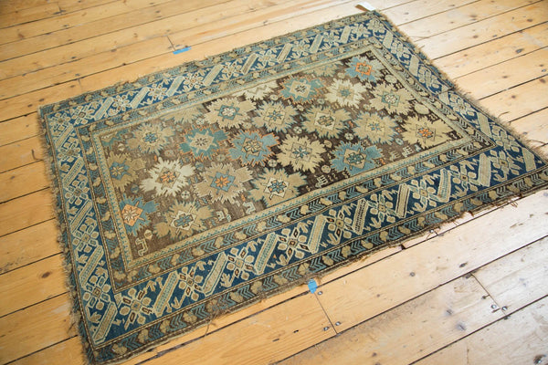 Antique Caucasian Square Rug / Item 4233 image 9