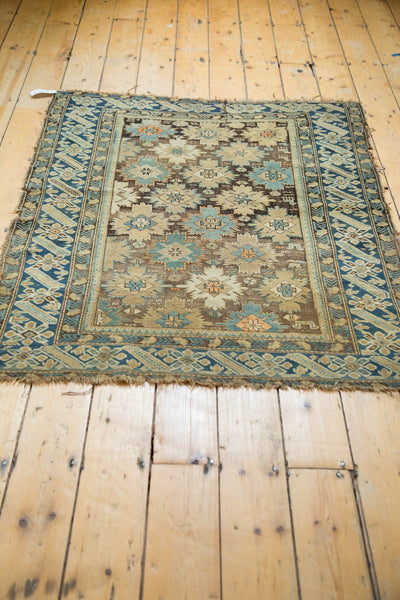 Antique Caucasian Square Rug / Item 4233 image 12