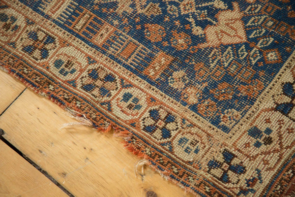 Antique Afshar Square Rug
