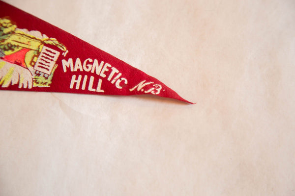 Vintage Magnetic Hill, NB Felt Flag