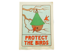 Vintage 1930s Elise Reid Boylston Protect the Birds School Poster