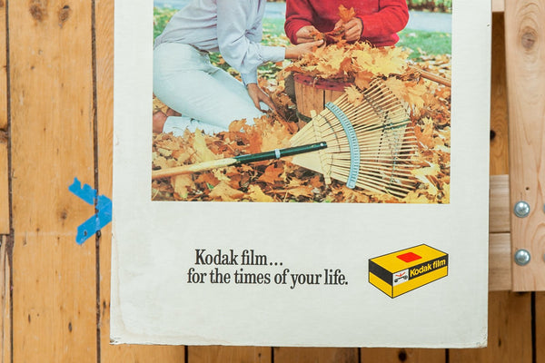 For The Times of Your Life Fall Couple Kodak Print Vintage Advertisement