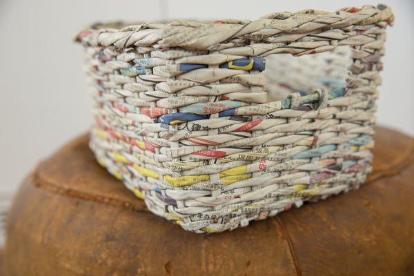 Vintage Japanese Newspaper Basket