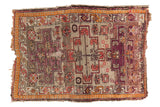 Antique Caucasian Square Rug