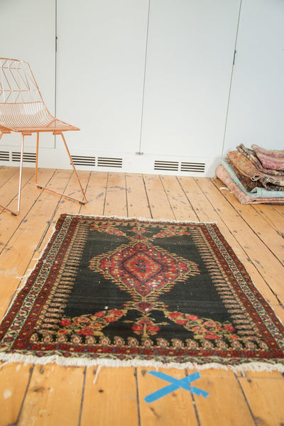 Antique Senneh Square Rug