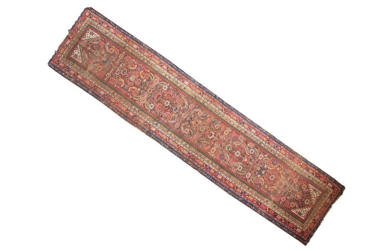 3x14 Antique Karabagh Rug Runner // ONH Item 4406