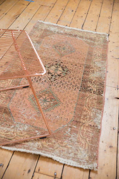 Vintage Distressed Hamadan Rug Runner