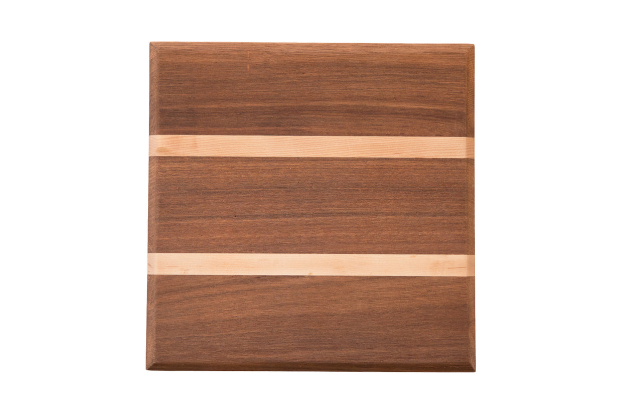 Serving / Cutting Board Mahogany and Maple Small // ONH Item 4424