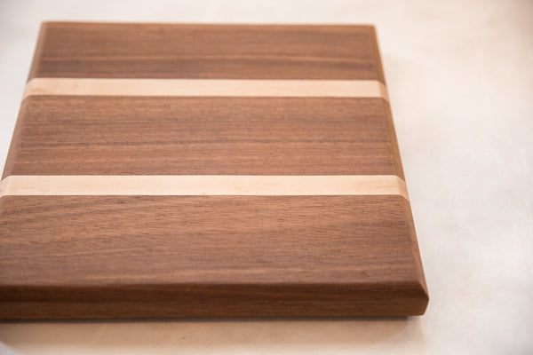 Serving / Cutting Board Mahogany and Maple Small
