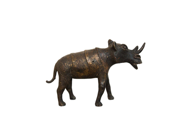 Lost Wax Casting Copper Vintage African Rhino