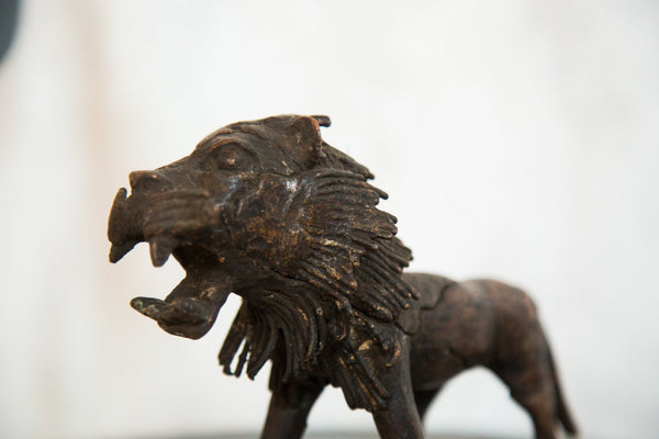 Lost Wax Casting Copper Vintage African Lion
