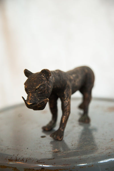 Lost Wax Casting Copper Vintage African Tiger