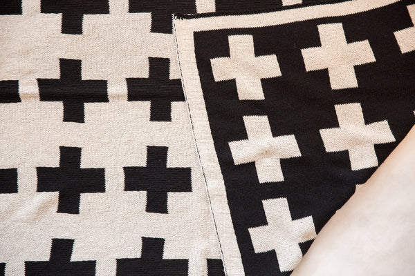 Eco-Friendly Made in USA Baby Swiss Cross Blanket