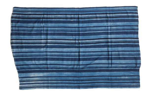 Striped Indigo African Textile Throw
