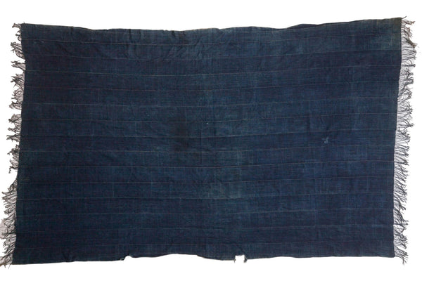 Denim Mosi Indigo African Textile Throw
