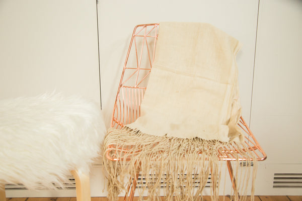 2.5x5 Natural African Textile Throw