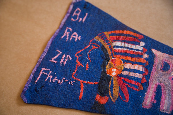 Painted Romans Indian Headress Felt Flag Banner Pennant