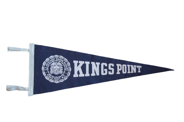 1990s Kings Point Felt Flag Banner Pennant
