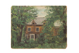 Vintage 1930s Painting House Behind Trees