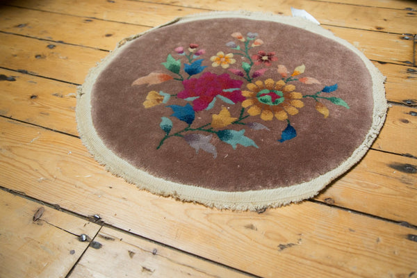 Antique Art Deco Round Rug