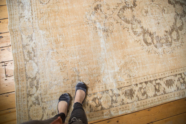 Vintage Distressed Oushak Carpet / Item 4643 image 2