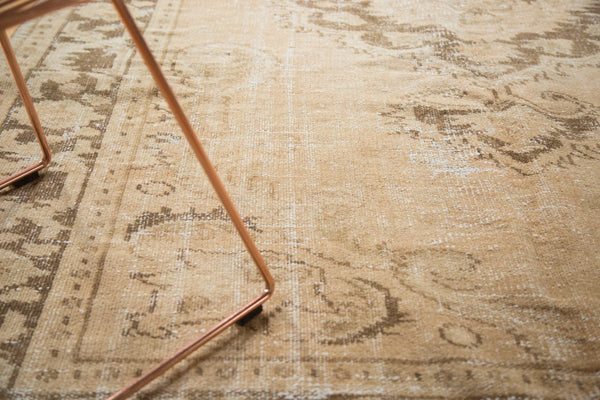 Vintage Distressed Oushak Carpet / Item 4643 image 4