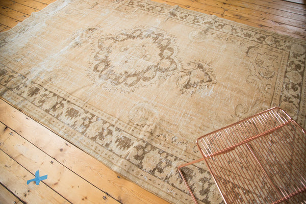 Vintage Distressed Oushak Carpet / Item 4643 image 5
